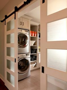 Do you like these Nick?   doors to hide washer