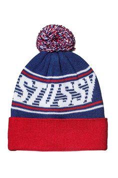 Beanies, Beanie Hats, Pom Pom Beanie Hat, Stussy, Winter Hats, Red, Fashion, Moda, Fashion Styles