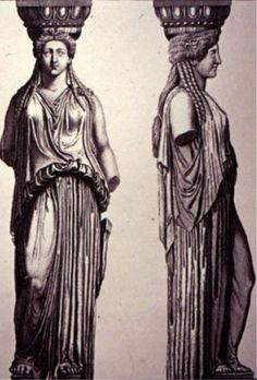 Caryatids.  What is it about those gals?  I just love them.  Such hard workers.