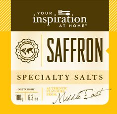 Saffron Specialty Salt #yiah #specialtysalt  Delicate blend of lively fresh citrus and rich saffron to use in rice, seafood, chicken and salads
