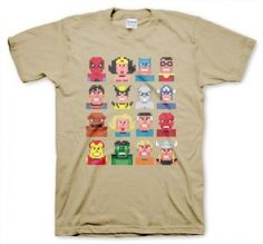 Support your favorite 8 bit pixelated superhero t-shirt!