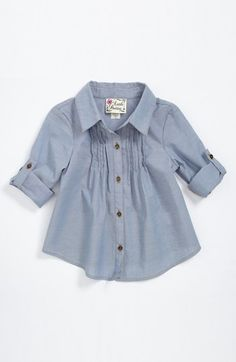 Little Pretties Chambray Tunic (Toddler Girls) | Nordstrom
