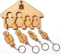 porta chaves - chaveiro - mdf - porta chaves com chaveiro