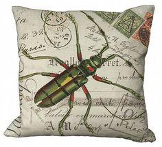 Green & Red Beetle 20x20 or 18x18 or 16x16 or by Soeuralasoeur, $40.00