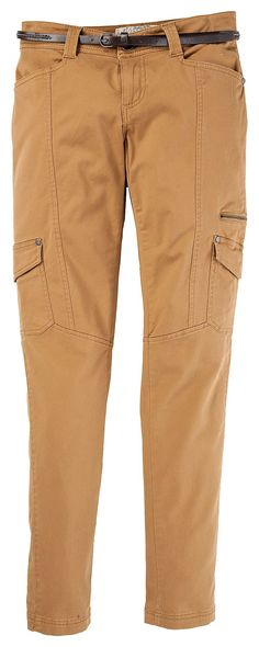 75d23b5731c Natural Reflections Belted Slim Leg Cargo Pants for Ladies