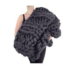 PROMO PRICE Super Chunky Knit Blanket 40 x 58 by lilyandpeabody