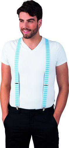 Queste belle bretelle bianche e blu ricordano i tradizionali colori bavaresi e saranno l'accessorio ideale per completare il tuo lokk in occasione della festa della Birra!