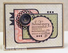 mojo monday 245 sketch sample by Karen Giron. She uses Rolled Flower Die-namics over Mini Doily Circles Die-namics
