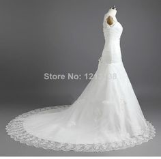 White/Ivory Appliques Lace Bridal Gown Wedding Dress Custom Size 6 8 10 12 14 16++ $178.00
