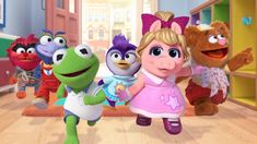 """Muppet Babies taught us all that we can make our dreams come true. And if your very oddly specific dream was """"Oh boy, I wish Hamilton star Renée Elise Goldberry could sing the theme for a Muppet Babies remake,"""" then do we have a treat for you. Muppet Babies, Miss Piggy, Disney Junior, Kermit, Canal Disney, Mickey Mouse Clubhouse, Jim Henson, Party Items, Baby Party"""