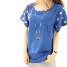 >> Click to Buy << Summer star hollow out coat round collar short sleeve T-shirt sexy women's clothing The style of the summer discount #Affiliate