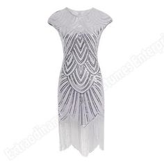 Flapper Dress – White / 8 It's holiday time which means time for the best Great Gatsby flapper dress. This stunning dress is great for hostessing or attending any party or event. Dress is made from stretchy fabric covered in sequins, round neck, cap sleeves and a fringed hem that falls just below the knee. … Flapper Dress – White / 8 yazısı ilk önce Party üzerinde ortaya çıktı.