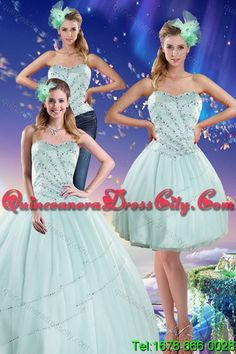 0ca15e99a7 Detachable Light Blue Strapless 2015 Quinceanera Dresses with Beading