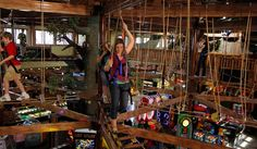 Northern Lights Indoor Ropes Course at Wilderness Resortn is perched 30 feet above the mega arcade, It features 42 challenges with varying degrees of difficulty for your to explore. #WildernessResort  #Wisconsin #dells