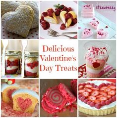 Valentine's Day desserts and treats. Lots of unique and delicious ideas!
