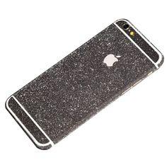 Black Glittery iPhone 6 Plus / iPhone 6S Plus Full Body Sticker Wrap