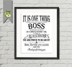 Boss appreciation day, boss gift, Boss week, thank you boss, Typographic art pri. Teacher Appreciation Week, Employee Appreciation, Appreciation Gifts, Teacher Gifts, Gifts For Boss, Gifts For Coworkers, Thank You Boss, Bosses Day Gifts, Farewell Gifts