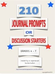 Looking for new journal prompts or discussion starters that kids really relate to? Download this FREE packet of 210 starters. Over 57,000 downloads to date!