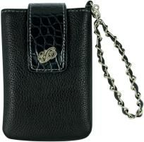 Harley-Davidson® UNISEX Cell Case W/Strap Leather/Faux Croco