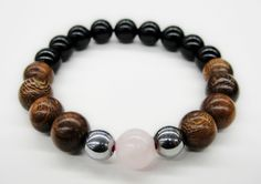 BoyBeads-Handmade Natural Stone Bead Bracelets | Breast Cancer Awareness-Boybeads for the Cure Mens Black Lava + Onyx + Wood Bracelet Thank you for viewing our custom handmade bracelets for men. $10 from the the sale of each bracelet in this collection will be donated to Men Against Breast Cancer, a non-profit organization in Washington, DC/Maryland that educates men on how they can help keep the women in their lives healthy and informed about breast cancer.