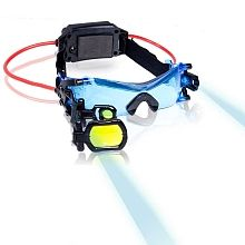 Eliminate darkness with the high-tech Spy Night Goggles from Spy Gear! The bright LED lights and blue tinted lenses enhanced your night vision allowing you to navigate your surroun Spy Gadgets, Gadgets And Gizmos, Cool Gadgets, Spy Gear For Kids, Spy Kids, Toys R Us, Kids Toys, Nocturne, Mc2