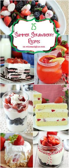 Strawberry Recipes at wineandglue.com