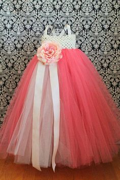 Coral Tutu Dress many options available customize by FrostingShop, $70.00 For Flower girl