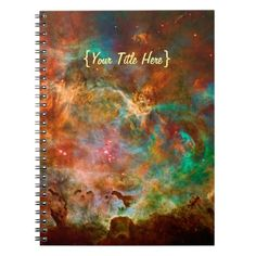 Carina Nebula in Argo Navis constellation Notebook #zazzle HightonRidley