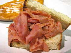 Ham Barbecue Sandwiches Pittsburgh Style with catsup and coke. Ham Recipes, Slow Cooker Recipes, Crockpot Recipes, Cooking Recipes, Hamburger Recipes, Sausage Recipes, Copycat Recipes, Philly Food, Soda Recipe