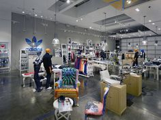 Sports Store | Retail Design | Shop Interior | Sports Display | Adidas Original's Atelier by Sid Lee Architecture & Aedifica, New York