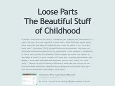 Loose Parts The Beautiful Stuff of Childhood