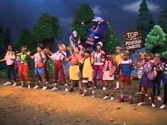 Blast from the past : Kids Praise 5- Psalty the Singing Songbook Cheesy production with epic praise music. Notably : I'm Climbing My Mountain, Sing His Praises, I Cast All My Cares Upon You, All Through The Day