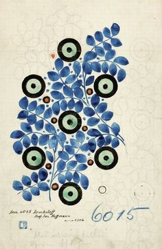 Josef HOFFMANN (1870-1956) Textile design 6015, 1906 Pencil, Japan ink, and watercolor on graph paper