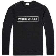 Wood Wood Long Sleeve Talan Tee (Black)
