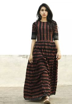 Beautiful cotton saree long dress