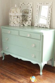Mooie blauwe dressoir