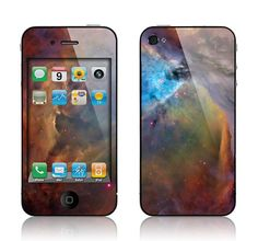 Apple iPhone 4 4S Decal Skin Cover  Nebula by skunkwraps on Etsy, $9.95