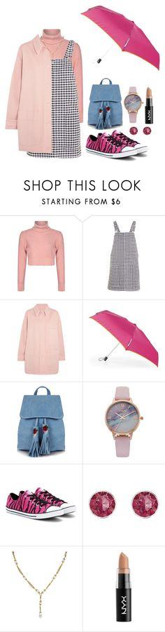 """it's raining !"" by rahmafiraaa on Polyvore featuring Topshop, MM6 Maison Margiela, Skinnydip, Vivani, Converse, Pink Box, Chanel and NYX"