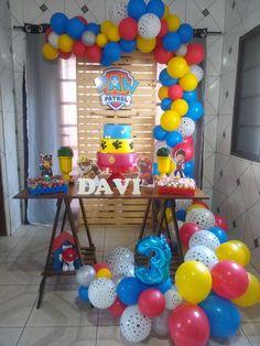 Paw Patrol Cake, Paw Patrol Birthday, Paw Patrol Decorations, Cumple Paw Patrol, 3rd Birthday, Ideas Party, Decorations, School, Birthday