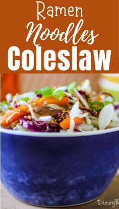 Ramen noodles are the perfect base for an easy summer coleslaw recipe How To Make Coleslaw, How To Make Ramen, Ramen Noodles Package, Ramen Coleslaw, Healthy Weeknight Dinners, Toasted Sesame Seeds, Chicken Flavors, Chinese Food, Comfort Foods