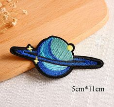 BLUE /& TAN Iron On Embroidered Patch Sea Creatures Beach SEASHELL