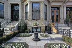 Back Bay Brownstone Boston Brownstone, Italian Garden, New England Homes, Big Windows, Grand Entrance, Urban Photography, House Front, Dream Houses, City Life