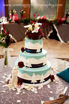 Rocky Mountain Themed Wedding Cake At Della Terra In Estes Park Co