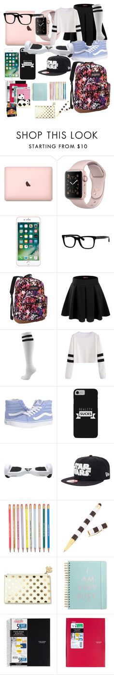 """Back to School"" by fantasymystic-luv on Polyvore featuring Bobbi Brown Cosmetics, JanSport, Doublju, Vans, Henri Bendel, Kate Spade, ban.do and Mead"