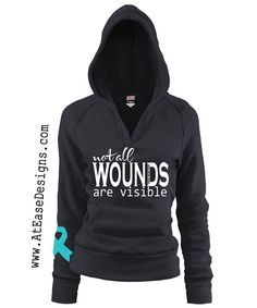 Spread awareness about PTSD with this super cute hoodie. Not All Wounds Are Visible    ★If you are looking for an affordable yet perfect hoodie,
