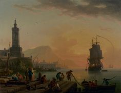 A Calm at a Mediterranean Port; Claude-Joseph Vernet (French, 1714 - 1789); 1770; Oil on canvas; 113 x 145.7 cm (44 1/2 x 57 3/8 in.); 2002.9.2