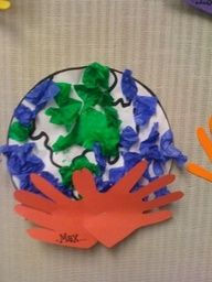 Handprint earth day arts and crafts for kids - Google Search