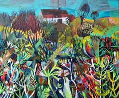 Este MacLeod, 'Summer meadows II' acrylic on board. Landscape Art, Landscape Paintings, Find Art, Plant Illustration, Green Art, Whimsical Art, Textile Art, Textile Patterns, Altered Art