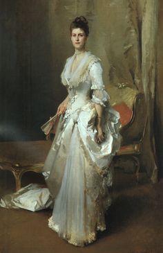 Mrs. Henry White  (Margaret Stuyvesant Rutherford 1857-1916)  1883  Corcoran Gallery of Art, Washington D.C  Oil on canvas