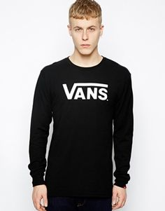 Vans Long Sleeve Top With Classic Logo